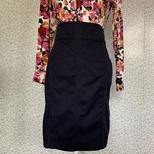 ❤️Ann Taylor Dark Blue Astor Pencil Mini Skirt❤️